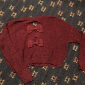 LF Millau Cropped Bow Sweater